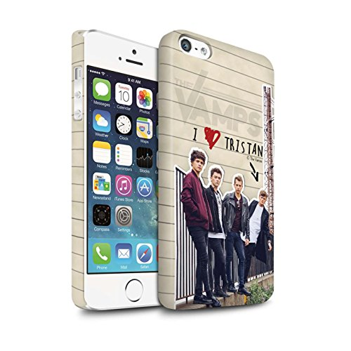 Offiziell The Vamps Hülle / Matte Snap-On Case für Apple iPhone 5/5S / Pack 5pcs Muster / The Vamps Geheimes Tagebuch Kollektion Tristan