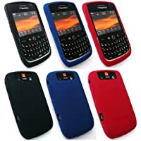 Original Blackberry 8900 Curve Triple Pack Silikon Hülle Bundle Of Blue, Rot Und Schwarz In Großpackungen
