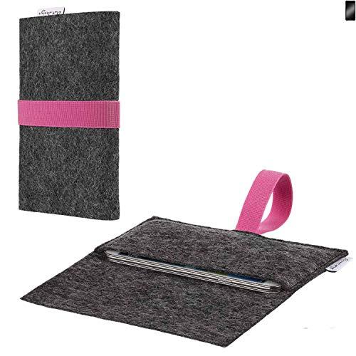 flat.design vegane Handy Hülle Aveiro für Cyrus CS 22 passgenaue Filz Tasche Case Sleeve Made in Germany