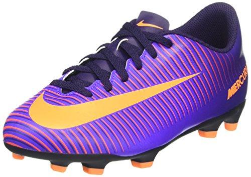 Nike Mercurial Vortex Iii Fg, Scarpe da Calcio Unisex - Bambini, Viola (Purple Dynasty/Bright Citrus-Hyper Grape), 38.5 EU
