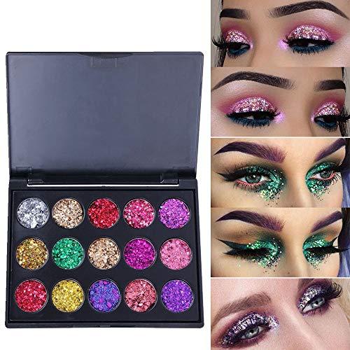Lidschatten Palette Glitzer Schminke,Lolamber Eyeshadow Lidschatten Pulver Palette Matte Lidschatten Kosmetik Make-up (Make-up Blush-palette Unter $5)