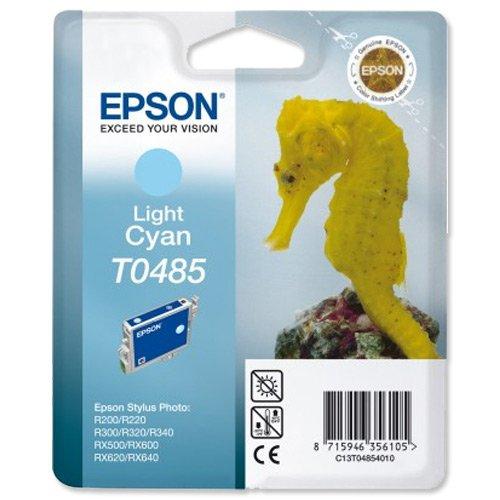Epson T0485 Cartouche d'encre d'origine Cyan clair pour R200 R220 300 320 340 ME RX500 600 620 640
