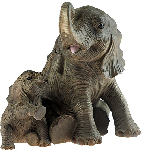 Elefante madre y bebé elefante figura decorativa-Figura decorativa por Leonardo