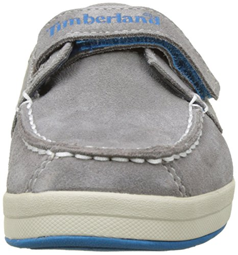 Timberland Unisex-Kinder Dover Bay H&l Boatsteeple Grey with Mykonos Blue Oxford Schnürhalbschuhe Grau (Steeple Grey with Mykonos Blue)