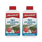 2x MELLERUD Algen und Grünbelag Entferner 1,0l Set Algen Moos Stein Reiniger