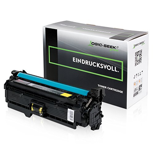 Original Logic-Seek Green Toner Kompatibel zu HP CE252A Color Laserjet CM3530 CP3525 Series (Hp Ce252a)