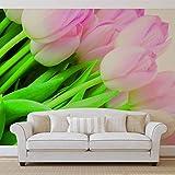 Blumen Tulpen Natur - Forwall - Fototapete - Tapete - Fotomural - Mural Wandbild - (8-018WM) - XXL - 368cm x 254cm - Papier (KEIN VLIES) - 4 Pieces