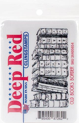 Deep Red Stamps Tief Rot Briefmarken selbst Stempel, Mehrfarbig, 20,6x 11,68X 0,83cm -