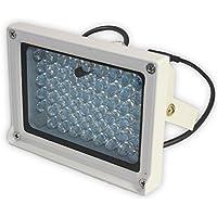 SATKIT Foco de infrarrojos para visión nocturna de 54 LED exterior a 50m camara seguridad (sensor de luz)