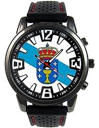 Galicia España Reloj para hombre con correa de silicona