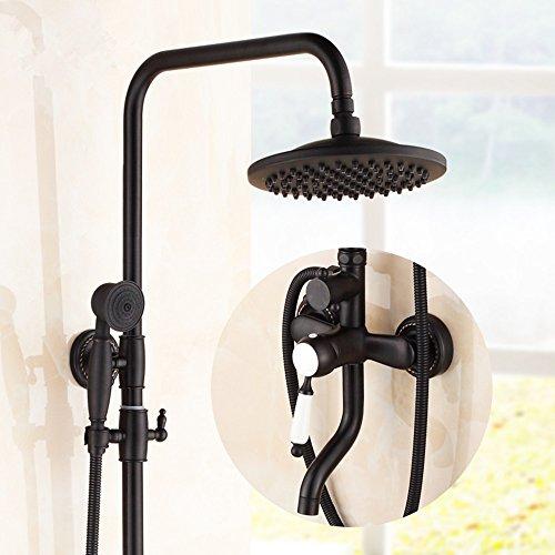 SKBE schwarz Dusche komplette Duscharmatur heben Vintage antike Kupfer Brausegarnitur (Vintage Dusche Wasserhahn)
