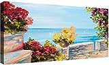 canvashop - Quadri Moderni cm 120x60 Mare 14 Stampa su Tela Canvas Quadro Moderno XXL Sole Tramonti Estate Arredo Casa