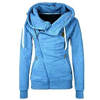 ASCHOEN Damen Langarm Hoodies Kapuzenpullover Sweatshirt Oberteil Pullover