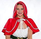 Rotkäppchen Umhang schulterlang rot Damen Kostüm Zubehör Karneval Fasching