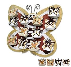 Disok Expositor Otoño Y 12 Cajitas Mariposa, Multicolor (3047)