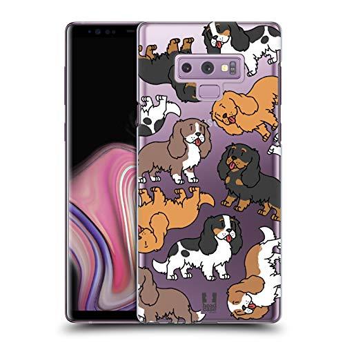 Head Case Designs Cavalier King Charles Spaniels Pattern Razze di Cani 3 Cover Dura per Parte Posteriore Compatibile con Samsung Galaxy Note9 / Note 9