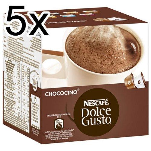 Nescafé Dolce Gusto Chococino, Lot de 5, 5 x 16 Capsules (40 portions)