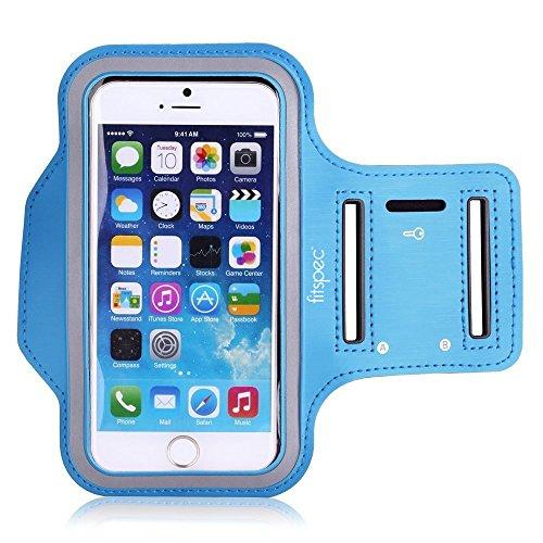 Fitspec Sport Armband für iPhone Se / 5s / 5 / 5c Laufarmband für Sport, Laufen, Jogging, Bewegung, Fitnessstudio Schutzhülle [BANDVERLÄNGERUNG INKLUSIVE] [Blau]