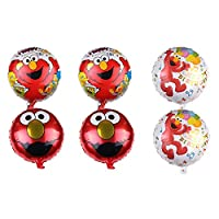 ‏‪6 Pcs ELMO Foil Balloons for Kids Gift Birthday Party Supplies Decor‬‏