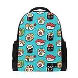 My Daily Cute Sushi Emoji-Cartoon Rucksack 35,6cm Laptop Daypack Schultasche für Reisen College Schule