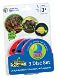 Learning Resources Jungle Animals, Dinosaurs and Ocean Life Three Disc Set