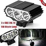 3LED 3 Modi Fahrradlampe Scheinwerfer HARRYSTORE 12000Lm Radfahren Taschenlampe Fahrrad Licht