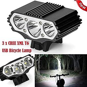 3LED 3 Modi Fahrradlampe Scheinwerfer HARRYSTORE 12000Lm Radfahren...