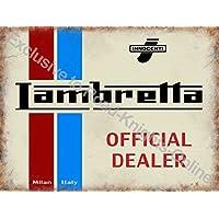 Lambretta Scooter Ufficiale rivenditore. Innocenti. Logo su bianco, rosso e