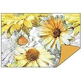 Dekorpapiere im Duo-Design | 1 Seite mit Dekor - 1 Seite unifarben | 10 x 15 cm | Faltpapier, Bastelpapier, Dekopapier | 110 g/qm | 50 Stück (Blumen/terra)