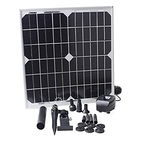 BACOENG 15W 600LPH Solar Power Panel Pump Kit Submersible Fountain Water Pump Pond