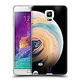 Head Case Designs Pastell Acryl Giessende Planeten Soft Gel Hülle für Samsung Galaxy Note 4