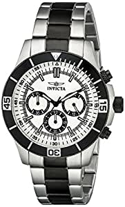 Invicta Specialty Men's Quartz Watch with Silver Dial Chronograph Display and Silver Stainless Steel Plated Bracelet in Stainless Steel Case 12843
