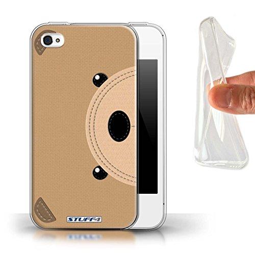 Coque Gel TPU de STUFF4 / Coque pour Apple iPhone 7 / Cochon Design / Cousu des Animaux Effet Collection Ours