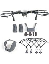 CreaTion Lente de la cámara Gimbal Protector de la Guardia, Kit de Extensiones Alargado Riser Set, Protectores de la hélice Protección para DJI Mavic Drone Quadcopter