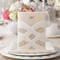 VStoy tasca a taglio Laser biglietti di inviti per matrimonio bianco 20pezzi elegante set per matrimonio fidanzamento Hollow floreale con buste Guarnizioni Party Favors