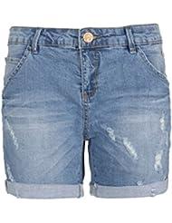 Eight2Nine Damen Bermuda Jeans-Shorts im Destroyed Look | Bequeme kurze Hose für den Sommer