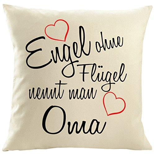 Mister Merchandise Kissenbezug Kissen Hülle Engel ohne Flügel nennt Man Oma, Dekokissen Sofakissen, Größe: 50x50 cm