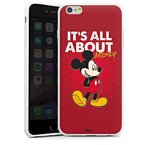 Apple iPhone X Silikon Hülle Case Schutzhülle Disney Mickey Mouse Merchandise Geschenke Silikon Case weiß