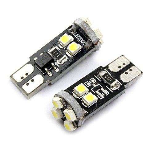 Preisvergleich Produktbild T10C8W - Weiss Can Bus W5W T10 12V Glassockel mit 8 SMD LED (No Error) Standlicht Begrenzungslicht Kennzeichenbeleuchtung Innenleuchte Parklicht Leseleuchte