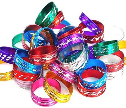 schiedene Farben Aluminium Metall Ringe. Serviette Band Fashion Schmuck ()