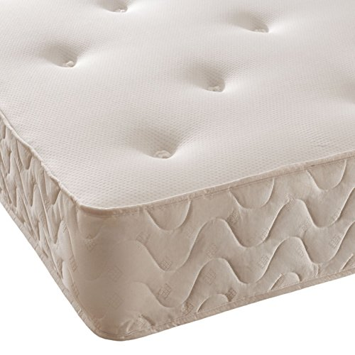 5ft King Atlantis Style Wooden Pine Bed Frame in White with Caramel Bar with Leila Mattress