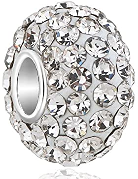 Uniqueen April Geburtsstein Charms Swarovski Elements Kristall silber vergoldet Beads Fit Pandora Armband