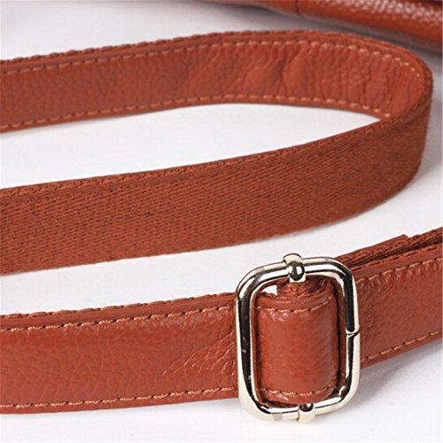 neue handtaschen aus leder und leder - messenger - bag Brown