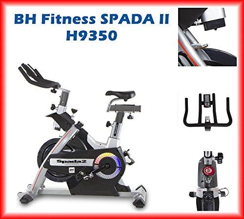 BH Fitness SPADA II H9350 Indoorbike Indoorcycling - 3-faches Bremsystem - Gemischte SPD-Trekking-Pedale - Trinkflaschenhalter
