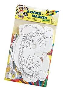 Folia 23219-Niños Máscaras Aventura 6Unidades en 6Motivos Surtidos, Color Blanco