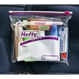 FREEZER BAGS : Pack Of 10 Reusable Transparent Zip Lock Bags Pouches With Write On Panels, Size 268 X 273 MM (1 GALLON (3.78 L))