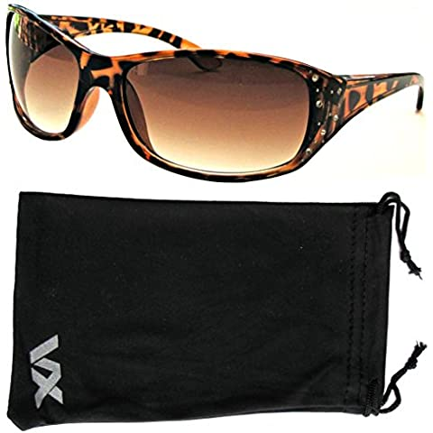 Gafas de sol deporte diseño moda Rhinestones gafas voz de la mujer