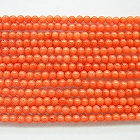 2mm Bamboo Coral Orange Round 15''L Beads Strand Natural by TheTasteJewelry