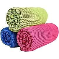 Healifty Toalla de secado rápido de microfibra, toalla de hielo instantánea, de 3 piezas instantánea, para actividades deportivas al aire libre de gimnasia deportiva