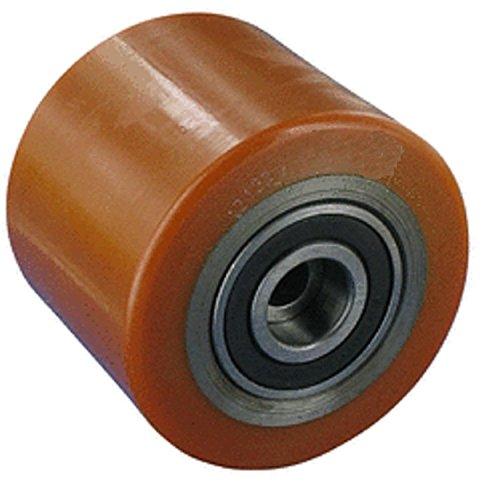 TRANSPALLET rullo 75mm larghezza 40mm asse 17mm Nucleo in acciaio pneumatici poliuretano ruote Ruote transpallet Rotolo di ricambio